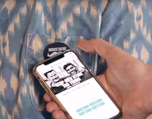Movember contactless badges