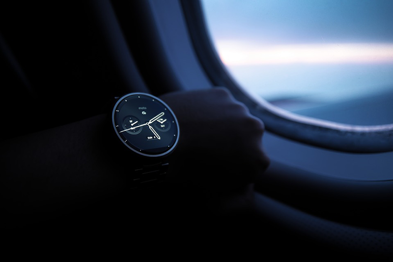 watch in a plane