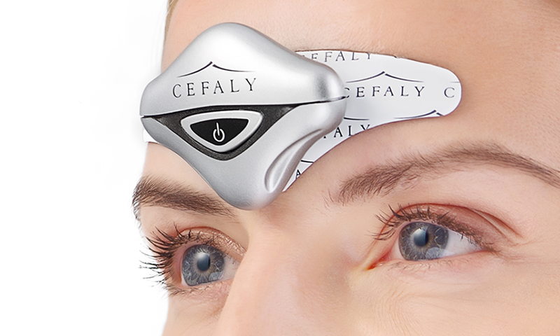 Cefaly wearable for pain relief