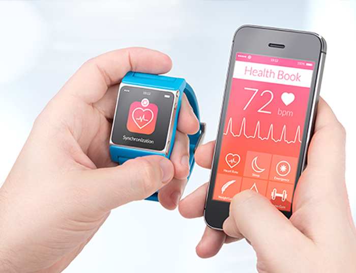 smartwatch and mobile app