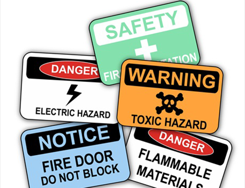safe workplace signs