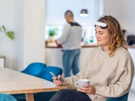 Flow brain stimulation headset