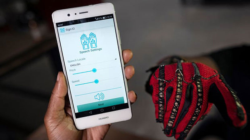 Mobile app and a smart glove