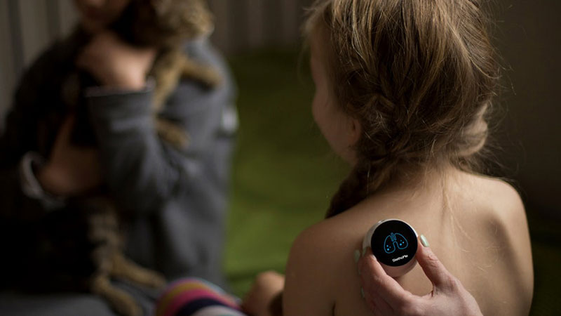 At-home smart stethoscope for children