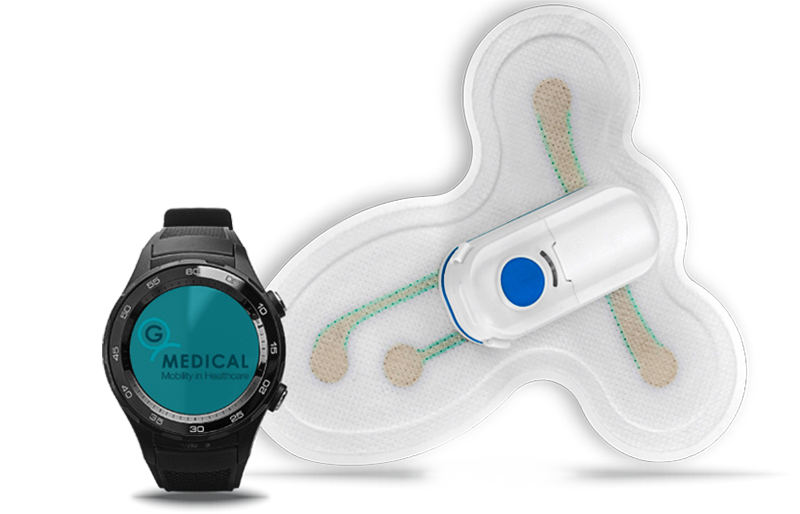 A smart medical patch and a smartwatch
