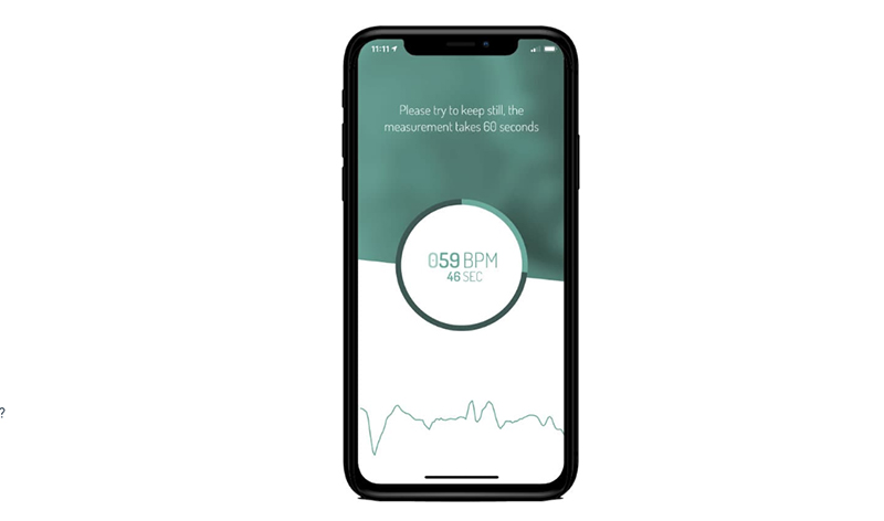 A mobile phone displaying health app