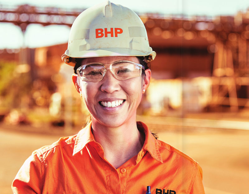 BHP wearable technology mining