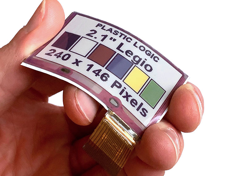 Flexible Color E Ink Displays for Wearables