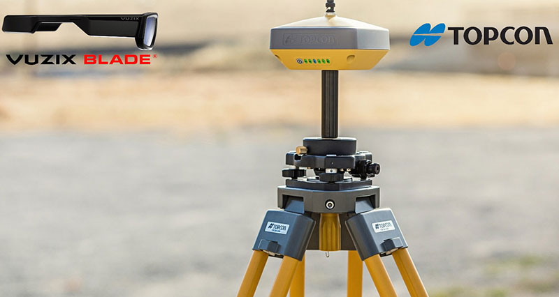 Vuzix Topcon MAGNET combination in construction sites