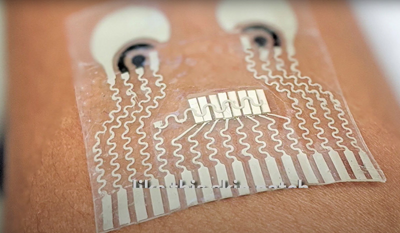 UCSD Patch monitor glucose caffeine blood pressure