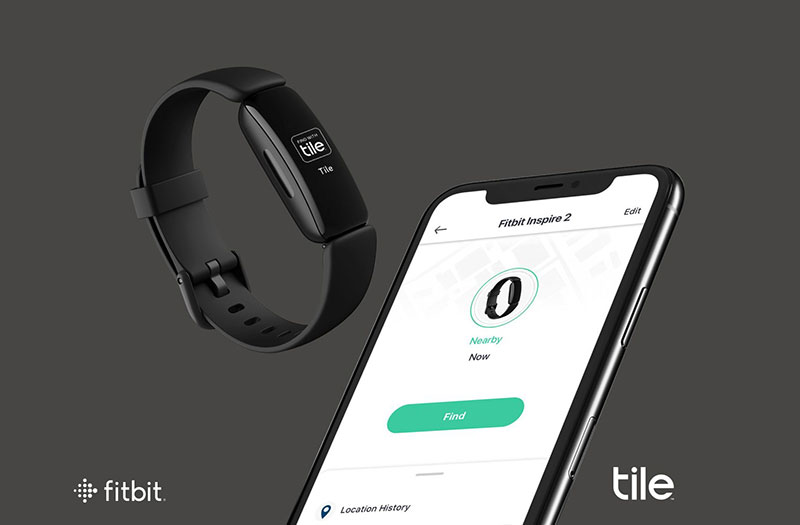 Fitbit Inspire 2 Tile Tracking Feature